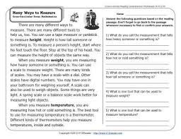 many ways to measure 2nd grade reading comprehension worksheets