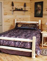 Western Bed Frames Western Corral Log Bed Frame Kit Log Bedroom Furniture Twist