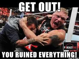 Cm Punk Meme - brock lesner kicks cm punk out of the ufc meme on imgur