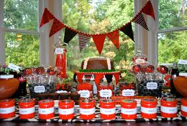 Black And Red Party Decorations My Parties Uga Opening Game Dessert Table
