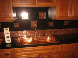 tin tiles for kitchen backsplash kitchen inspiring tin backsplash and black tile with wooden