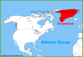 Map Of North And South America by Greenland Location On The North America Map