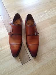 light brown monk strap shoes double monk strap with navy blue suit styleforum
