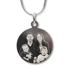 Photo Engraved Necklace Pendant Order Unique Jewellery With Photo Or Text Yoursurprise