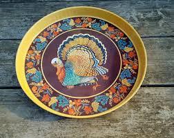 ceramic turkey platter turkey platter etsy