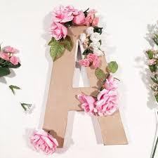 Home Floral Decor Diy Floral Monogram Hometalk