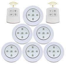 led puck lights amazon enjoygous 6 pcs wireless led puck lights kitchen under cabinet