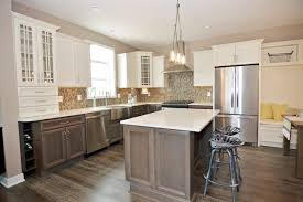 stylish modern farmhouse kitchen wooden countertop kitchen island