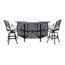 Cast Aluminum Patio Table And Chairs by Aosom Outsunny 3 Piece Cast Aluminum Outdoor Patio Bar Height