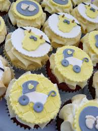Yellow And Grey Baby Shower Theme These Are Some Baby Shower Cupcakes That I U0027ve Made We Don U0027t Know