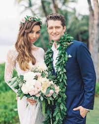 wedding flowers hawaii renee puente and matthew morrison s destination wedding in hawaii