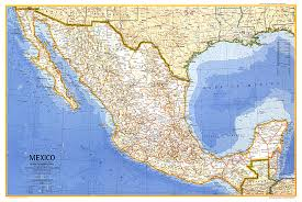 mexico on map mexico map