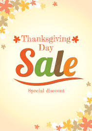 thanksgiving day sale poster in vector stock vector image 61032399
