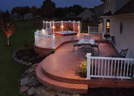 backyard deck designs images trex composite wonderful to make