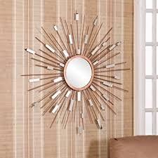 mid century mirror amazon com mid century modern sunburst mirrored wall sculpture