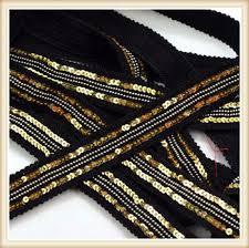 sequin ribbon gold black sequin sequin ribbon sequin border for garment