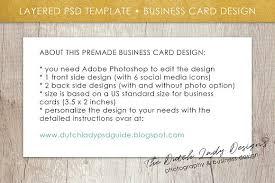 Standard Us Business Card Size Photoshop Business Card Template 4 Business Card Templates
