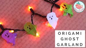 Halloween Garland Craft by Origami Ghost Tutorial Diy Garland Paper Craft How To Fold An