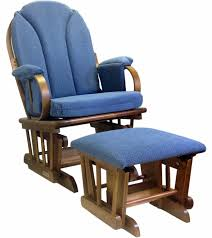 Fabric Glider Recliner With Ottoman Shermag Glider Rocker And Ottoman Corduroy Blue Inside Glider