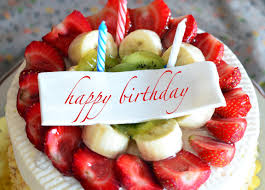 download wallpaper strawberry cake birthday cake fruits happy
