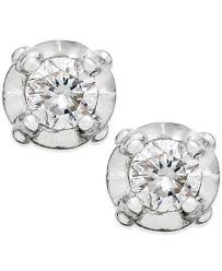 stud earings diamond stud earrings in 10k white gold 1 10 ct t w earrings