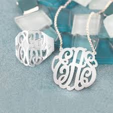 personalized monogram necklace personalized monogram necklace monogram necklace silver