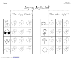 syllable worksheets u2013 wallpapercraft