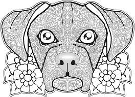 free zentangle dog coloring page for adults free printable