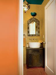Orange Powder Room Full Tilt Half Baths Diy