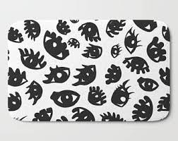 Black And White Bathroom Rug by Funny Bathroom Decor Funny Bath Mat Funny Bathroom White