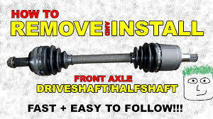 cv front axle remove and install half shaft front wheel drive axle