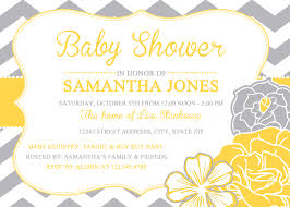 yellow and gray baby shower baby shower invitations yellow and gray baby shower diy