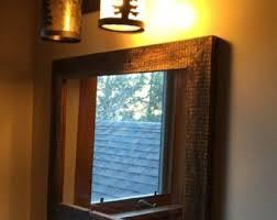 Rustic Bathroom Mirror - barn wood bathroom set rustic 1892 reclaimed barn wood with