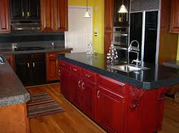 Cherry Kitchen Cabinets With Granite Countertops Cherry Wood Kitchen Cabinets Home Depot Backsplash Ideas For Black