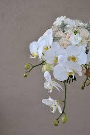 orchid white bridal bouquet
