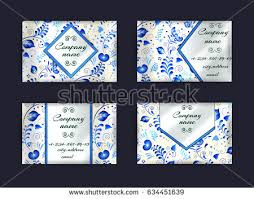 set business cards traditional russian style stock vector
