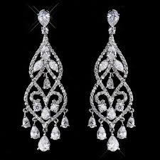 diamond chandelier earrings janessa simulated diamond chandelier earrings