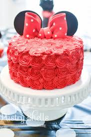 minnie mouse cake pastry shells how to make a beautiful minnie mouse rosette cake