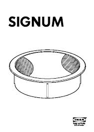 passe cable de bureau signum kit sortie de câbles ikea ikeapedia