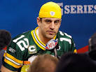 Super Bowl XLV Media Day: AARON RODGERS Takes Maria Menounos' Pop ...