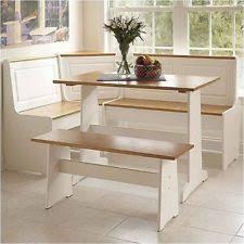 kitchen nook furniture set linon ardmore breakfast corner nook table set in white ebay
