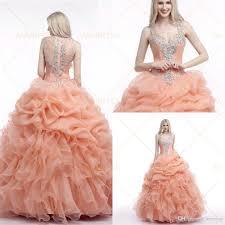 quincea eras dresses 2015 quinceaneras dresses gowns crystals beading sheer