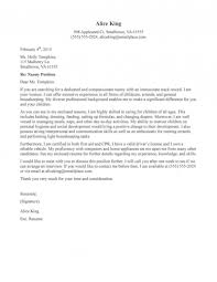 How To Write Nanny On A Resume Nanny Cover Letter Template New Nanny Job Pinterest Cover