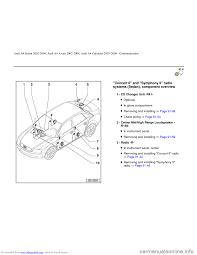 audi a4 2002 b5 1 g radio system general information