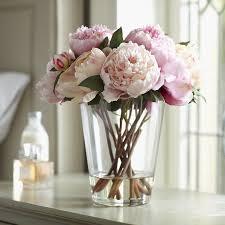 peony arrangement birch lane faux peonies floral arrangement reviews wayfair