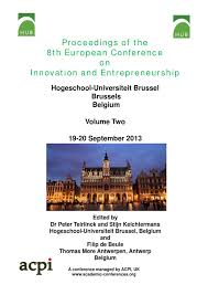 proceedings of the 8th european conference on innovation and