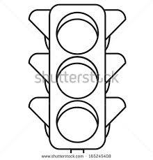 Traffic Light Clipart Traffic Lights Outline Stock Vector 165245408 Shutterstock