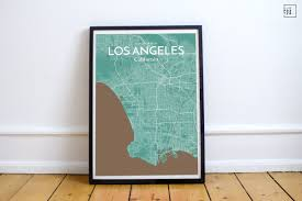 City Map Glasses Ourposter Com U0027los Angeles City Map U0027 Graphic Art Print Poster In