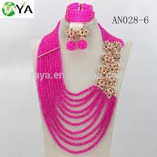 bead necklace style images Newest costume african jewelry set crystal beads jewelry set jpg