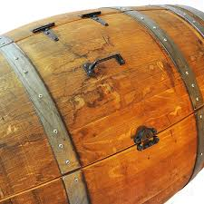 reclaimed wine barrel ice chest the green head